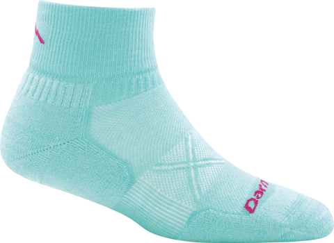 Darn Tough Coolmax Vertex 1/4 Ultralight Sock - Women's Aqua Small