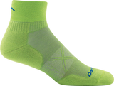 Darn Tough Vermont Men's Vertex 1/4 Sock Ultra-Light, Grasshopper, X-Large