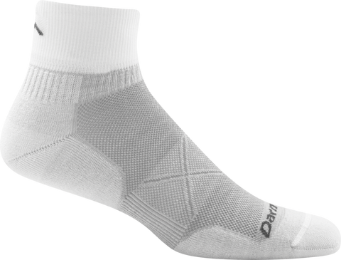 Darn Tough Vermont Men's Vertex 1/4 Sock Ultra-Light, Light Gray, X-Large