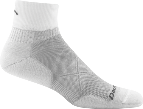 Darn Tough Vermont Men's Vertex 1/4 Sock Ultra-Light Cushion, Light Gray, X-Large