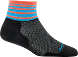 Darn Tough Stripe 1/4 Ultralight Sock - Women's Black Small