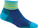 Darn Tough Stripe 1/4 Ultralight Sock - Women's Marine Small