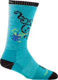 Darn Tough BA Betty Crew Ultra Light Cushion Sock - Women's Teal Small