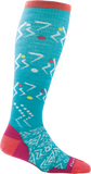 Darn Tough Vertex Over the Calf Ultra Light Sock - Women's Teal Medium