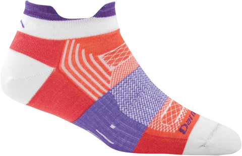 Darn Tough Pulse No Show Tab Light Sock - Women's Coral Small