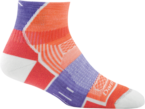 Darn Tough BPM 1/4 Light Cushion Sock - Women's Coral Small