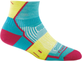 Darn Tough BPM 1/4 Light Cushion Sock - Women's Teal Small