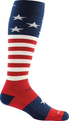 Darn Tough Captain America Cushion Sock - Men's Stars & Stripes X-Large
