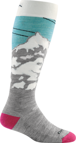 Women's Darn Tough Yeti Ultra Light Ski Sock-Glacier-US Size S