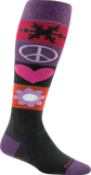 Darn Tough Peace Love Snow Over The Calf Cushion Socks - Women's Black Small