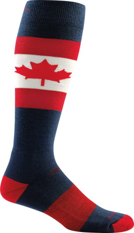 Darn Tough Merino Wool Ski O Canada Over-the-Calf Ultralight Sock - Men's Maple X-Large