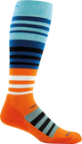 Darn Tough Merino Wool Ski Hojo Over-the-Calf Ultralight Sock - Men's Orange X-Large