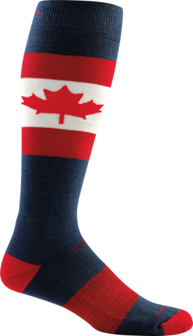 Darn Tough Merino Wool Ski O Canada Over-the-Calf Cushion Sock - Men's Maple X-Large