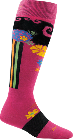 Darn Tough Flowers Light Socks - Women's Berry Small