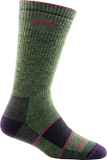 Darn Tough Vermont Women's Merino Wool Boot Full Cushion Socks, Moss Heather, Small