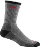 Darn Tough Merino Wool Coolmax Micro Crew Cushion Sock - Men's Gray/Black X-Large