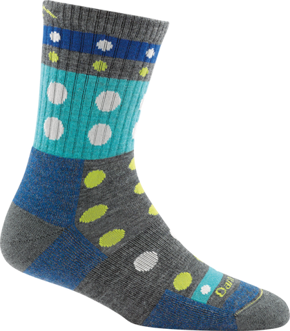 Darn Tough Blazes Micro Crew Cushion Sock - Women's Gray Small