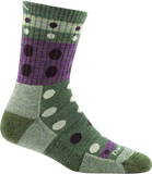 Darn Tough Blazes Micro Crew Cushion Sock - Women's Green Small