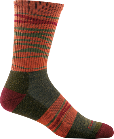 Darn Tough Switchback Micro Crew Light Cushion Sock - Men's Forest 2X-Large