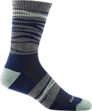 Darn Tough Switchback Micro Crew Light Cushion Sock - Men's Navy X-Large