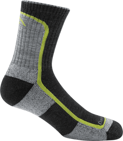 Darn Tough Light Hiker Jr. Micro Crew Light Cushion Sock - Boy's Charcoal/Lime Small