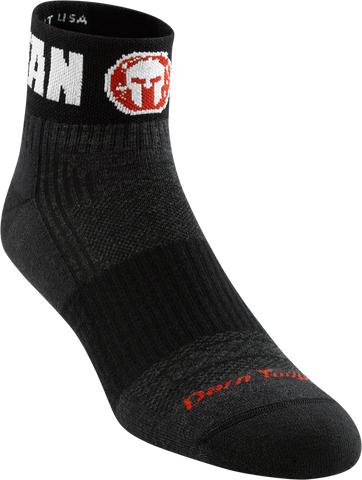 Darn Tough Spartan 1030 Womens Spartan 1/4 Quarter Light Cushion, Official Sock of Spartan U.S., Charcoal Spartan