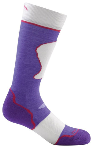 Jr. Over-the-Calf Ultra-Light Socks (Small, Padded Majesty/Snow)