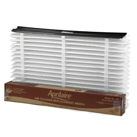Aprilaire Filter #410 fit Aprilaire Models 1410, 2410 and 3410 Air Purifiers - Genuine Aprilaire Product - 8 Pack