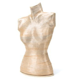 "18"" Female Table Top Body Form in Eco-Friendly Material: Various Textures & Colors"