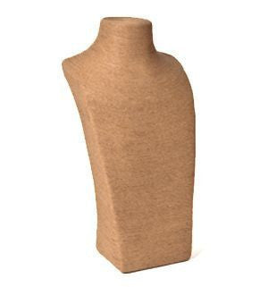 Natural Fiber Bust Form #2 -- 18""