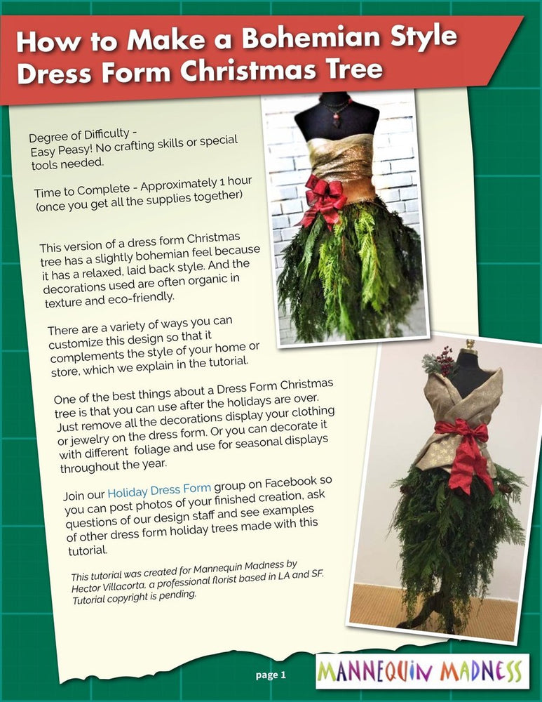 eBook Tutorial: Dress Form Christmas Tree - Bohemian Style