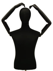 Articulated Male Dress Form -- Black
