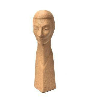 "21"" Organic Eco-Friendly Head Form: Natural Fibers"