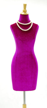 Velvet Dress Form Slipcover: Purple Size 6/8