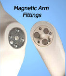 3/4 Male Torso on Stand with Magnetic Arms