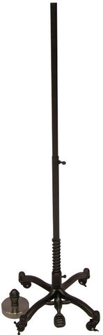 Dress Form Stand: Black Cast Iron with Wheels & Neck Cap