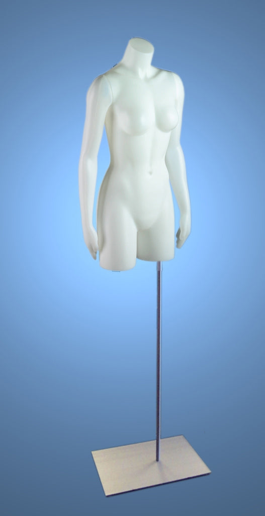 Headless Female 3/4 Torso on Stand with Magnetic Arms