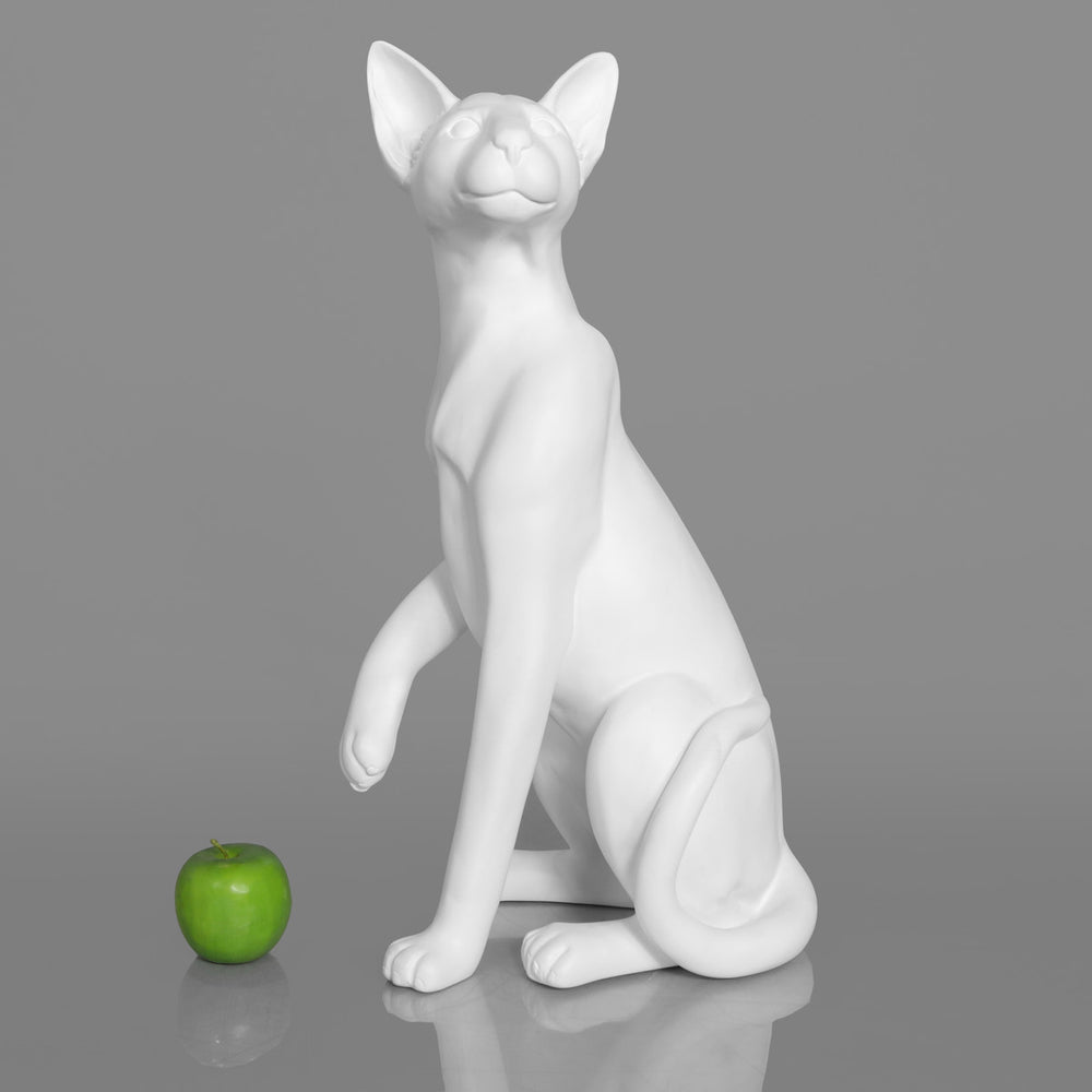 Siamese Cat Mannequin: Matte White or Glossy Black