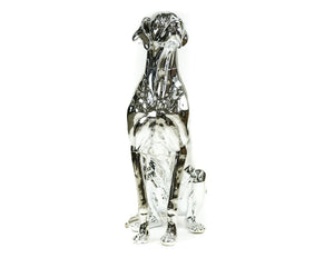 Great Dane Dog Mannequin: Chrome