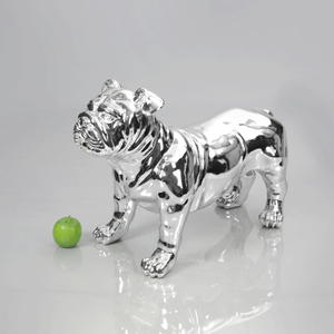 English Bulldog Mannequin: Chrome