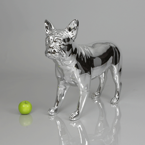 French Bulldog Mannequin: Chrome