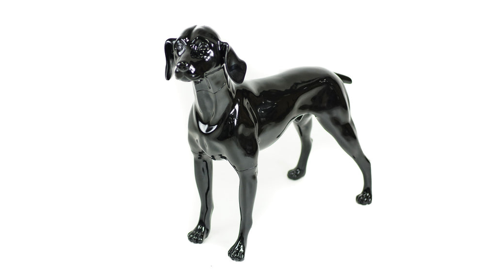 German Pointer Dog Mannequin: Matte White or Glossy Black