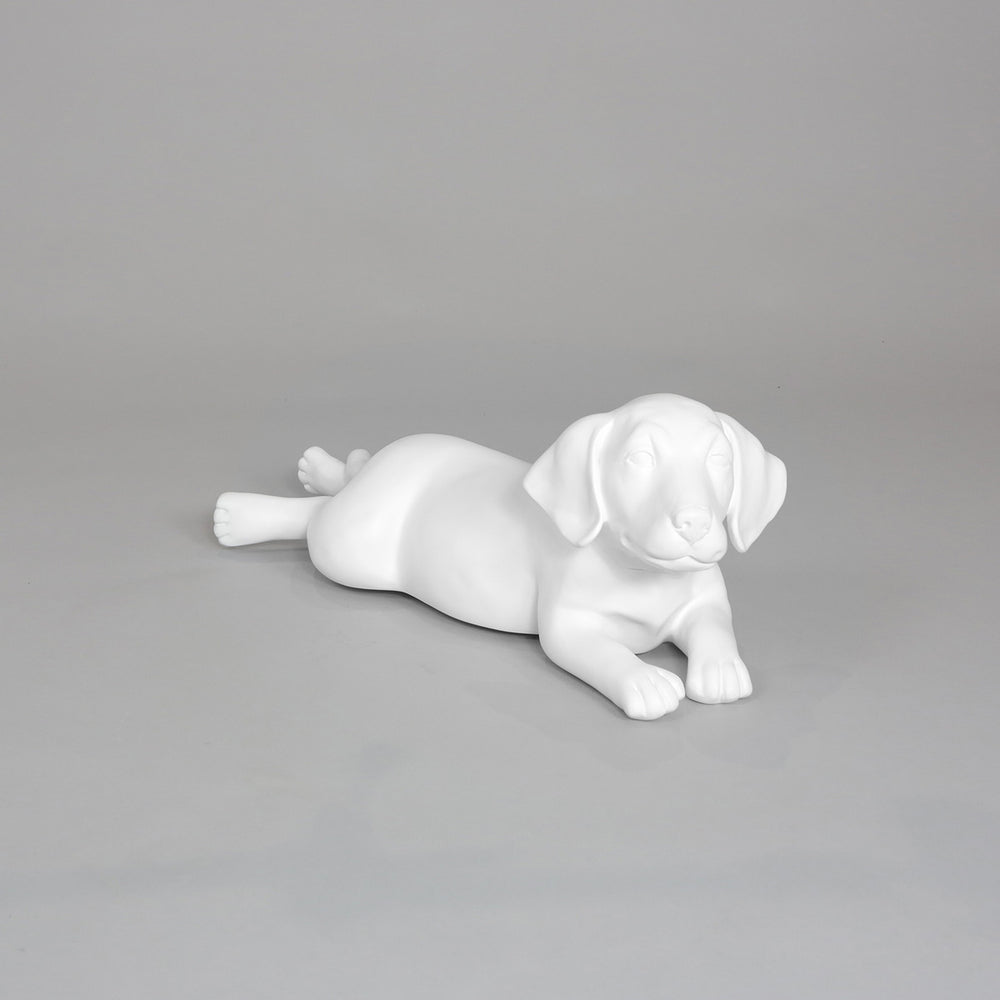 Labrador Puppy Dog Mannequin: Lying Down