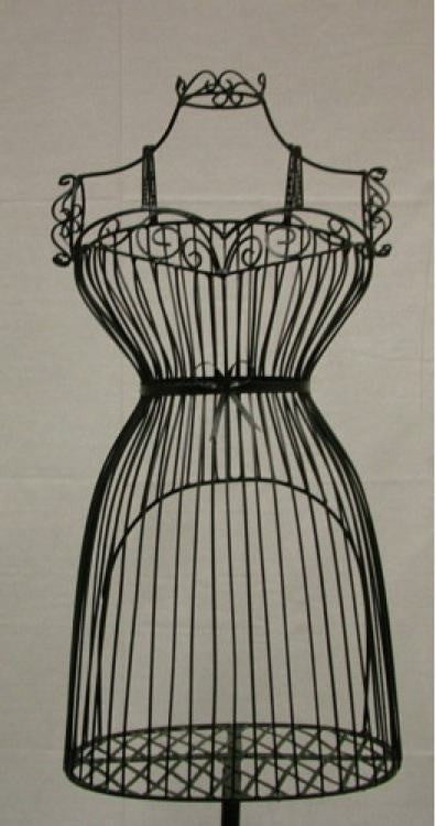 Female Wire Dress Form Mannequin #1: Black