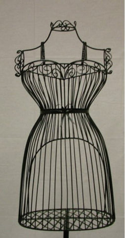 Female Wire Dress Form Mannequin #1 -- Black
