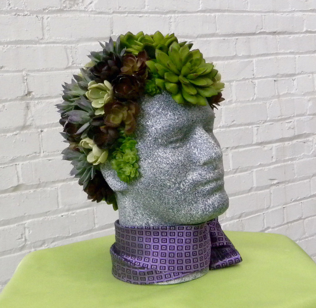 Faux Succulent Mannequin Head Display: DIY Tutorial