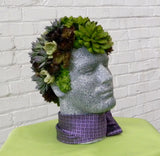 Faux Succulent Mannequin Head Display - DIY Tutorial