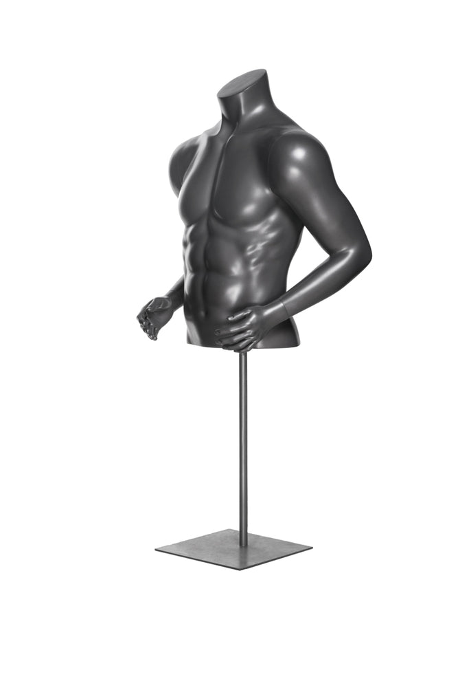 Male Athletic Torso: Glossy Grey