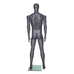 Articulated Egghead Male Mannequin: Black