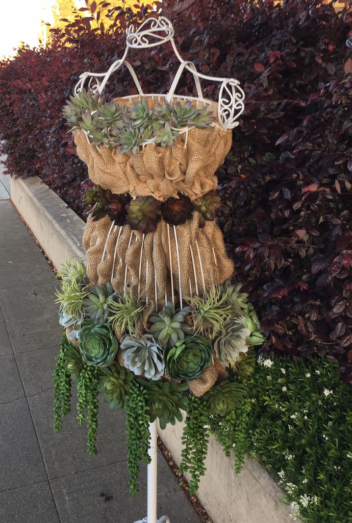 Faux Succulent Garden Display on a Dress Form - DIY Tutorial